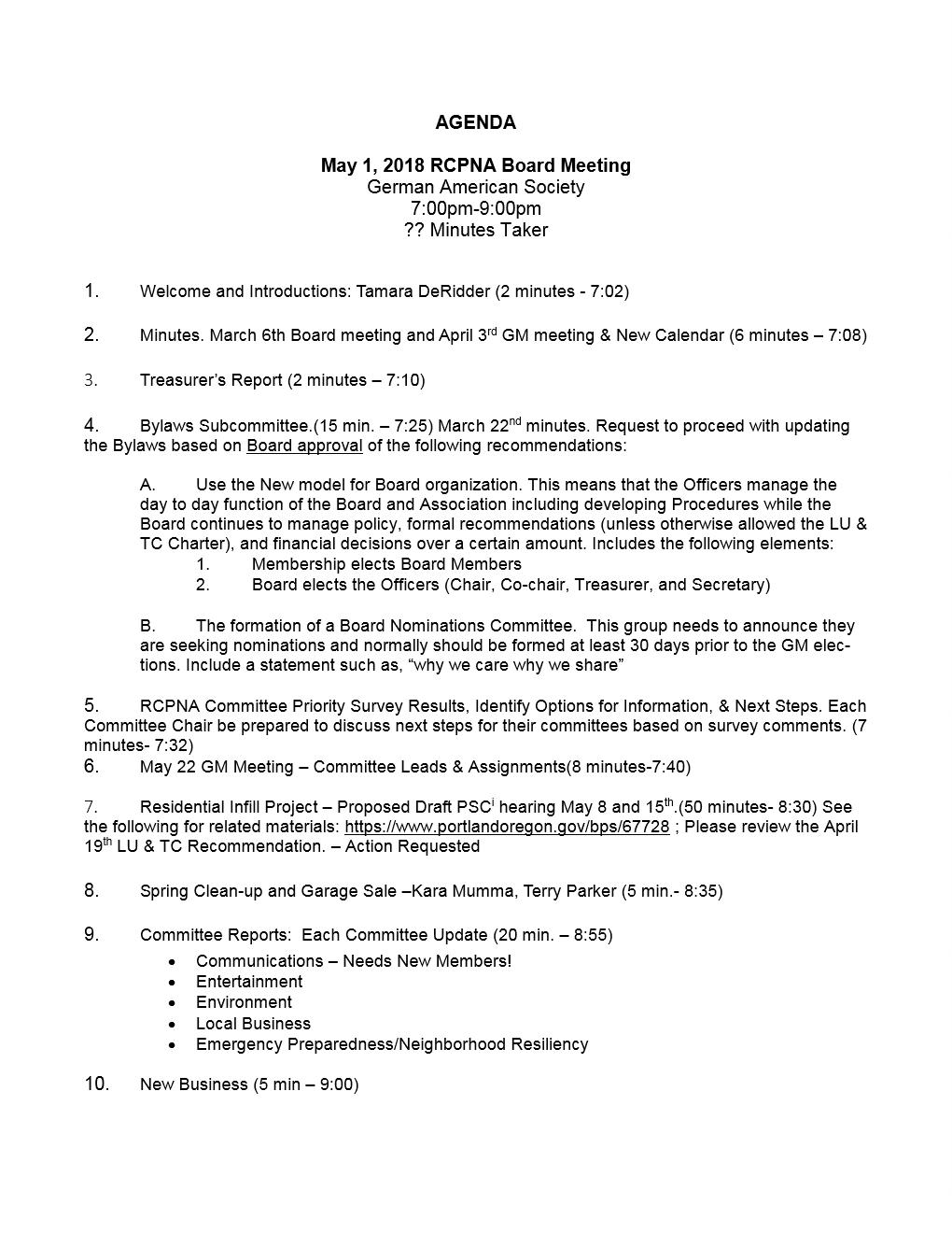 meeting document