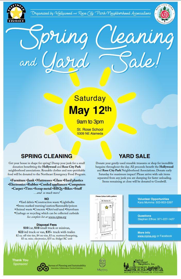 Spring Cleanup | Rose City Park Neighborhood Association